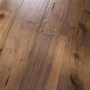 Hardwood AmishHand-Scraped-Solid PR-AHSS-BWNT-5 BlackWalnutNatural