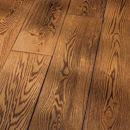 Smoked Specialties - Hand-Scraped Wire Brushed  Smoked - Solid Sandstone White Oak Smoked Cinnamon