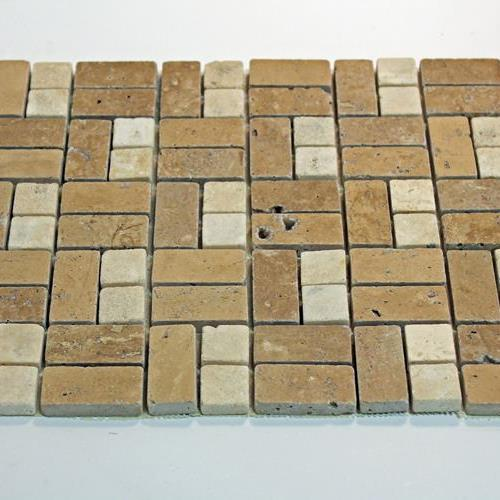 Natural Stone Mosaic Tile 1X2/1X1 Mini Subway Mocha/Chocolate