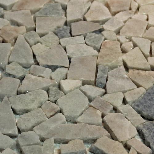 Natural Stone Mosaic Tile Broken Pieces Blanco Crystal