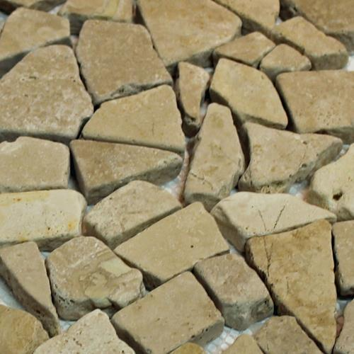 Natural Stone Mosaic Tile Broken Pieces Mocha