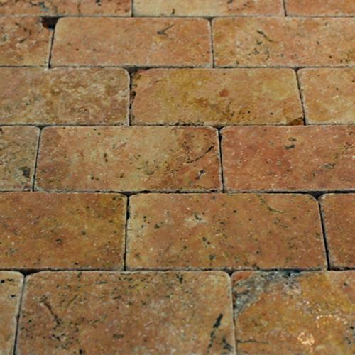 Natural Stone Mosaic Tile 2X4 Subway Peach
