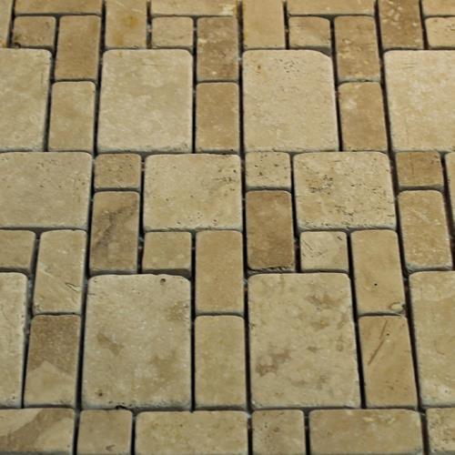 Natural Stone Mosaic Tile Mini Versailles Mocha
