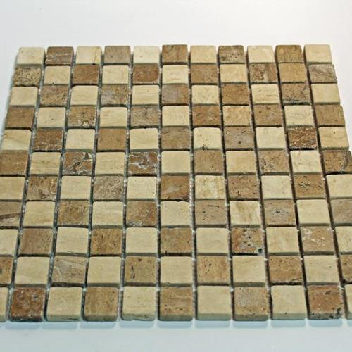 Natural Stone Mosaic Tile 1X1 Square Mocha/Chocolate