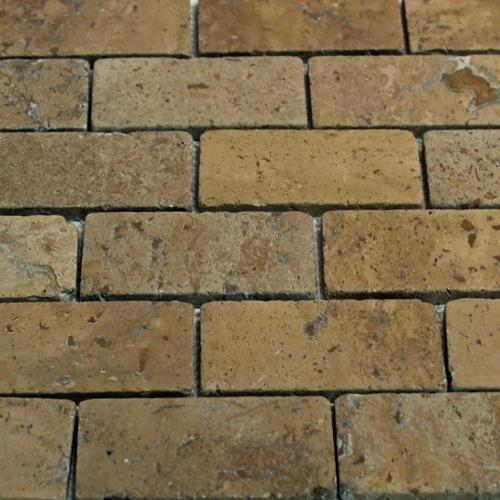 Natural Stone Mosaic Tile 2X4 Subway Chocolate