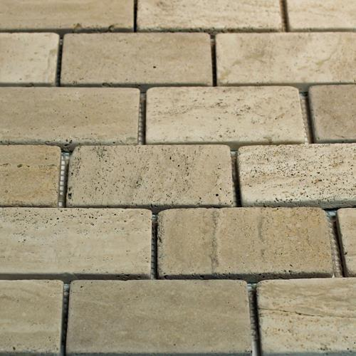 Natural Stone Mosaic Tile 2X4 Subway Mocha