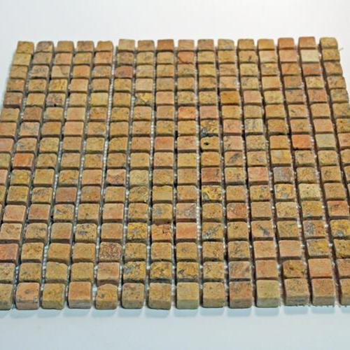 Natural Stone Mosaic Tile 5/8X5/8 Square Peach