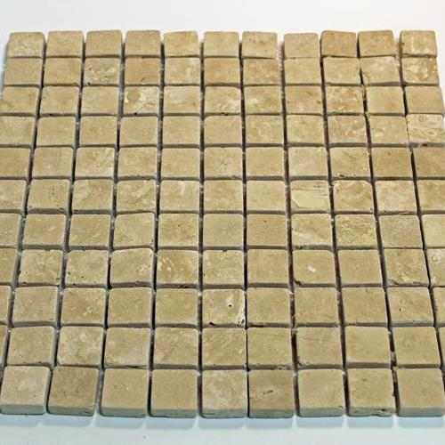 Natural Stone Mosaic Tile 1X1 Square Mocha