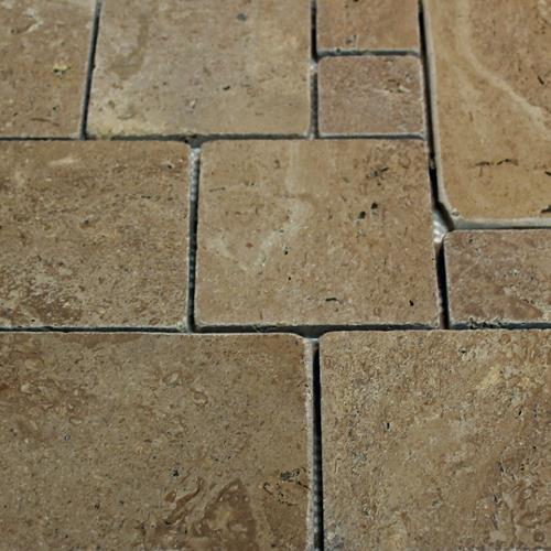 Natural Stone Mosaic Tile 6X4 Versailles Chocolate