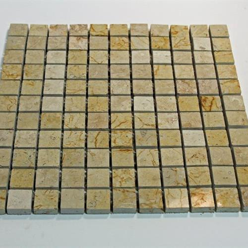 Natural Stone Mosaic Tile 1X1 Square Desert Cream