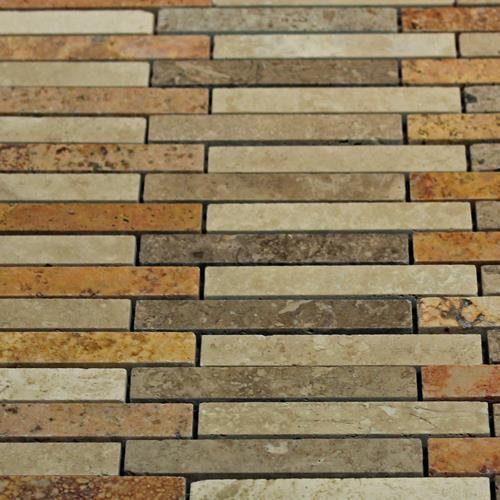 Natural Stone Mosaic Tile Barritas Multi Color
