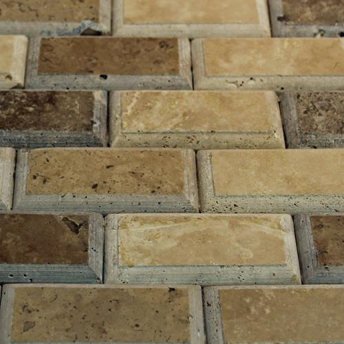 Natural Stone Mosaic Tile 2X4 Subway Mocha/Chocolate Relieve
