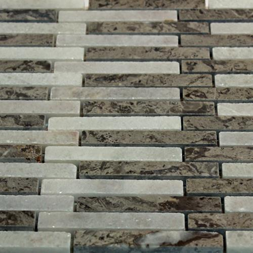 Natural Stone Mosaic Tile Barritas Blanco Crystal Gris