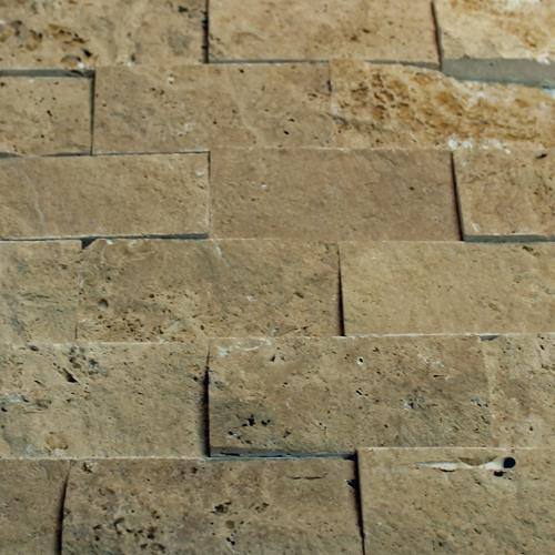 Natural Stone Mosaic Tile 2X4 Subway Mocha Splitface