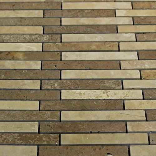 Natural Stone Mosaic Tile Barritas Mocha Chocolate