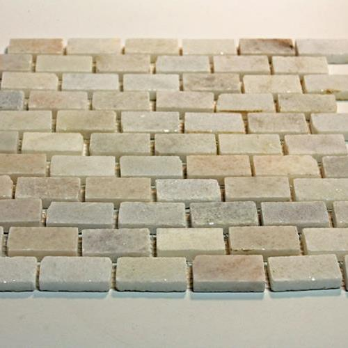 Natural Stone Mosaic Tile 1X2 Mini Subway Blanco Crystal