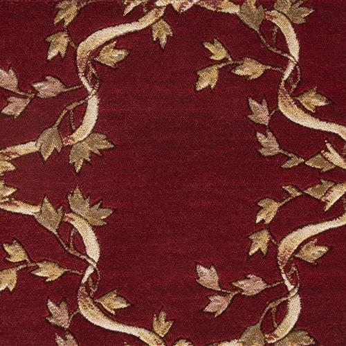 Ashton House Ribbon Trellis Pewter Burgundy