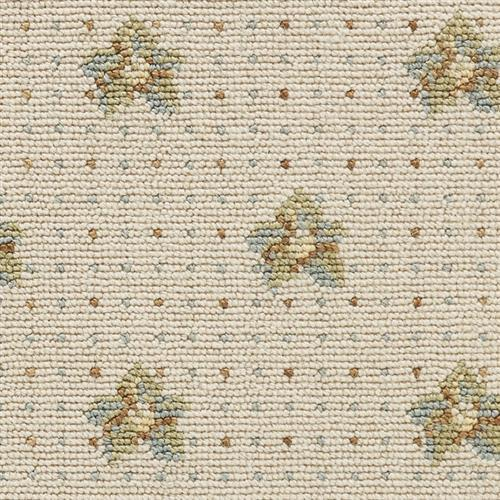 Luxe Pointe Flower Pindot Ivory Green