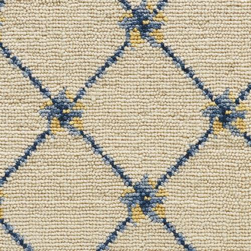 Luxe Pointe Flower Trellis Ivory Blue