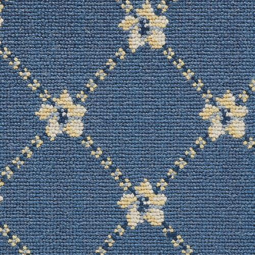 Luxe Pointe Flower Trellis Medium Blue