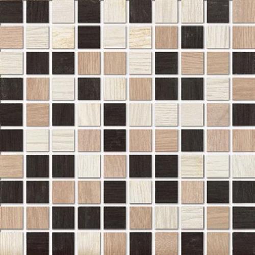 Treverk White-Capuccino-Black Mosaic - Square - 12X12