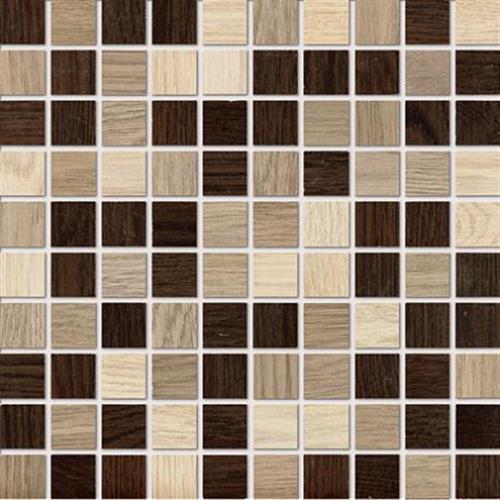 Treverk in Beige Teak Wenge Mosaic   Square - Tile by Marazzi