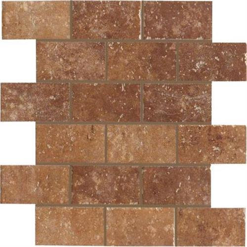 Walnut Canyon Umber Mosaic 2X4 Brick - 13X13