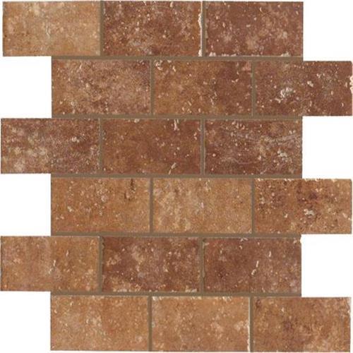 Walnut Canyon Umber Mosaic 2X4 Brick - 13X13
