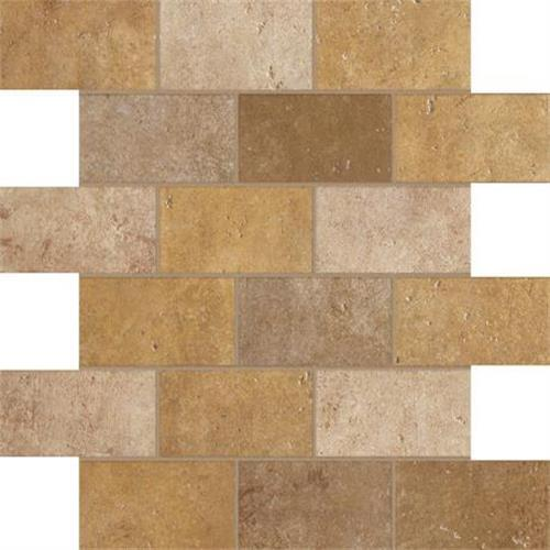 Walnut Canyon Golden Mosaic 2X4 Brick - 13X13