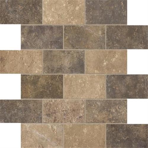 Walnut Canyon Multi Mosaic 2X4 Brick - 13X13