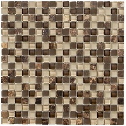 Crystal Stone II Espresso Mosaic Square - 12x12