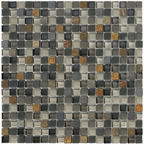 Crystal Stone II Slate Mosaic Square - 12x12