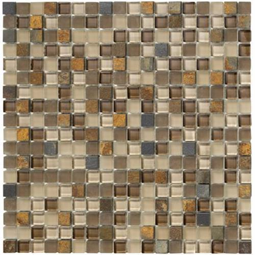 Crystal Stone II Terracotta Mosaic Square - 12x12