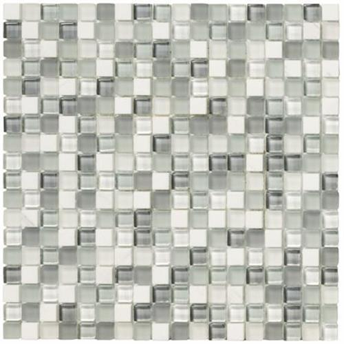 Crystal Stone II Pearl Mosaic Square - 12x12