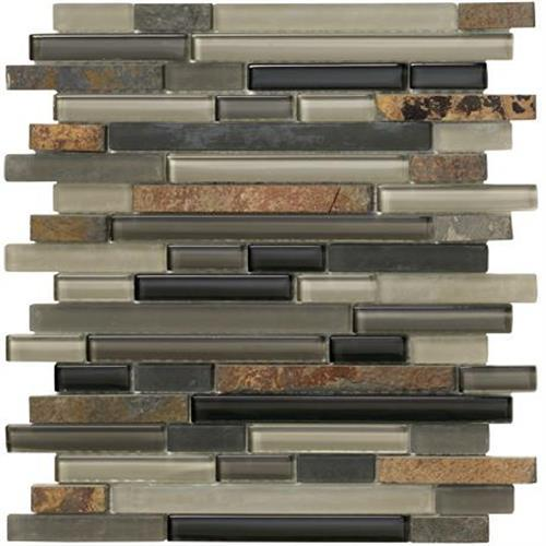Slate Mosaic Strip - 12x12
