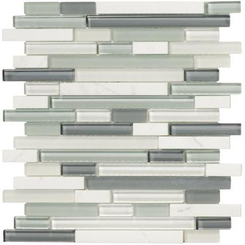Crystal Stone II Mosaic Strip Mosaic Strip - 12x12