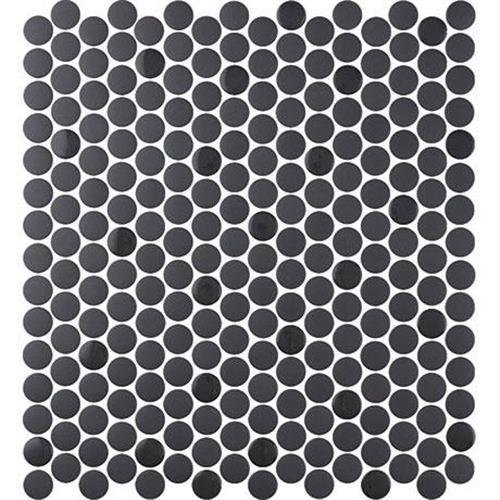 Nu Tempo in Midnight City Mosaic (3/4 Penny Round)   12x11.5 - Tile by Marazzi