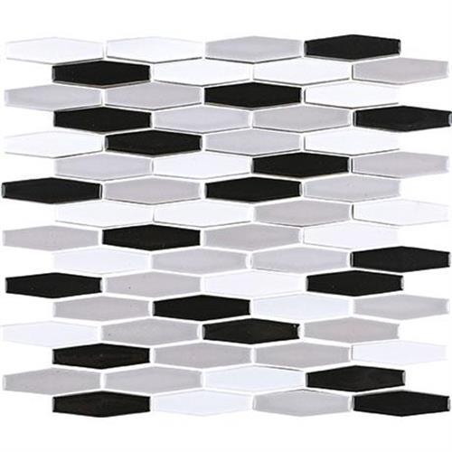 Nu Tempo in Silver City Mosaic (1/2 X 3 Linear Hex)   11x12 - Tile by Marazzi