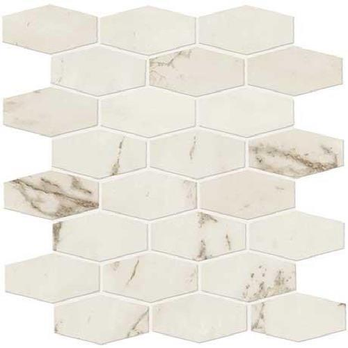 Swatch for Palazzo White Matte   Hex Mosaic flooring product