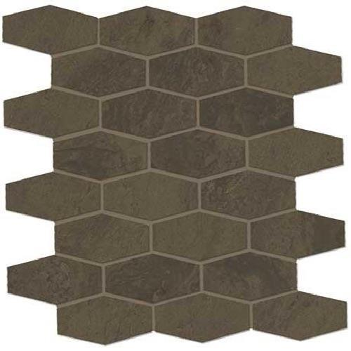 Swatch for Imperial Brown Matte   Hex Mosaic flooring product