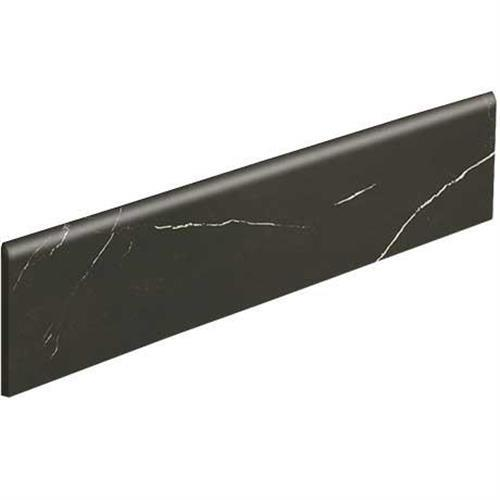 Classentino Marble in Centurio Black Polished Bullnose   3x24 - Tile by Marazzi