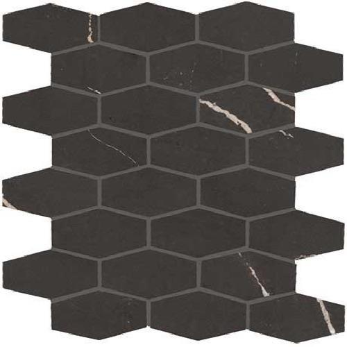 Swatch for Centurio Black Matte   Hex Mosaic flooring product
