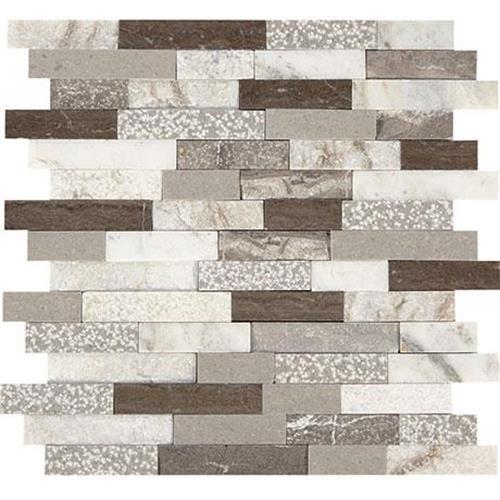 Predella Reverent Taupe Blend Mosaic Random Linear - 12X12
