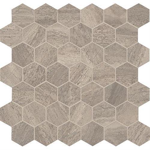 Predella Reverent Taupe Blend Mosaic 2 Hexagon - 12X12