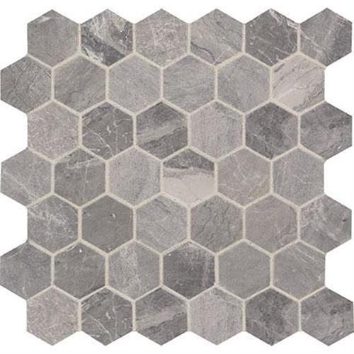 Predella Meta Silver Mosaic 2 Hexagon - 12X12