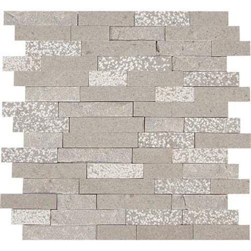 Predella Meta Silver Mosaic Random Linear - 12X12