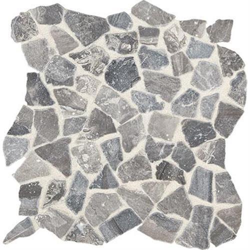 Predella Meta Silver Mosaic Pebble -