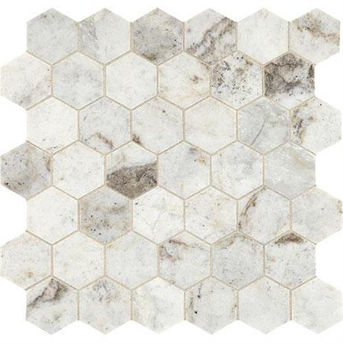 Predella Lumen White Mosaic 2 Hexagon - 12X12
