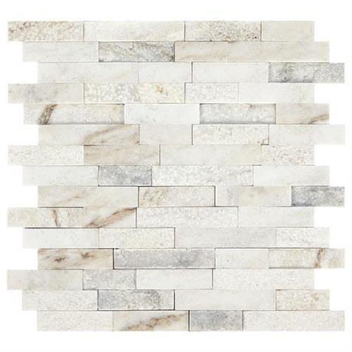 Predella Lumen White Mosaic Random Linear - 12X12