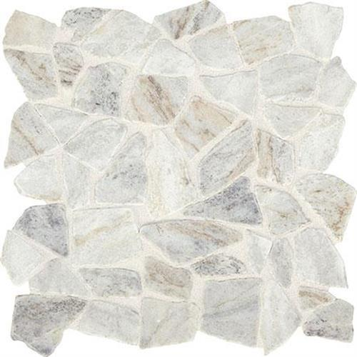 Predella Lumen White Mosaic Pebble -